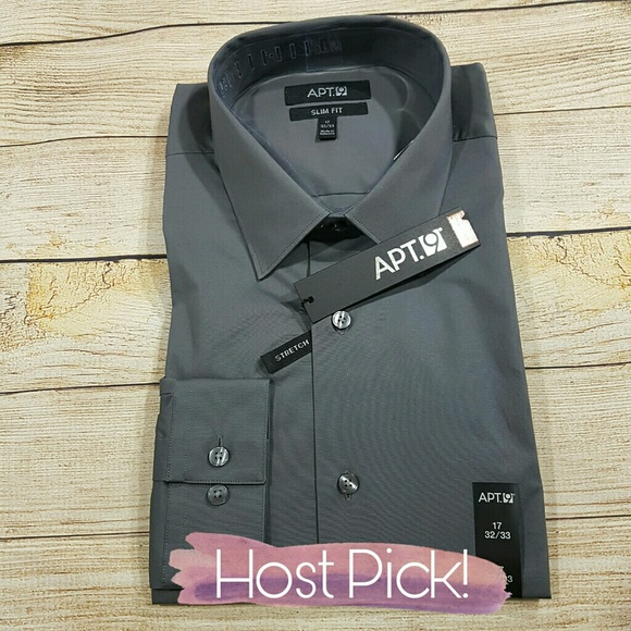 06f0606751701 🌟B2G1 NWT Men s Apt. 9 Slim Dress Shirt 17-32 33